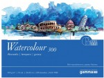 Blok do Akwareli Gamma Watercolour 300 g Drobnoziarnisty