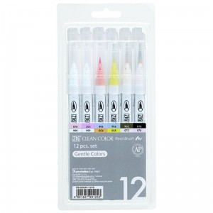 PISAKI KURETAKE ZIG CLEAN COLOR REAL BRUSH KOMPLET 12 SZTUK RB-6000AT/12VB
