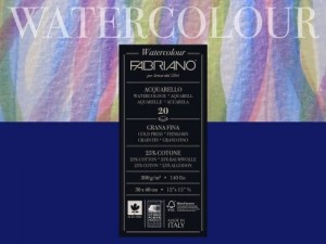 Blok do Akwareli Fabriano Watercolour 300 g Drobnoziarnisty