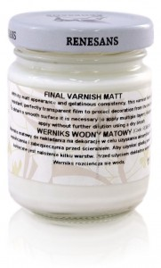 Werniks Matowy do Decoupage Renesans 110 ml