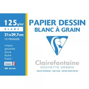Papier do rysunku Clairefontaine A4 12 ark.