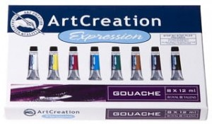GWASZE 8X12ML TALENS ARTCREATION EXPRESSION